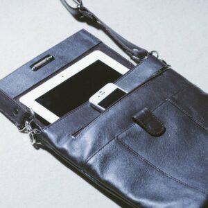 Уникальная коричневая мужская сумка мессенджер BRL-132 227386