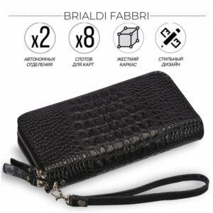 Уникальный черный мужской портмоне клатч BRL-19830