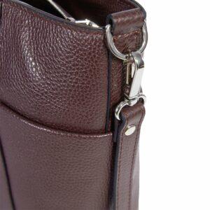 Удобная бордовая женская сумка через плечо BRL-47277