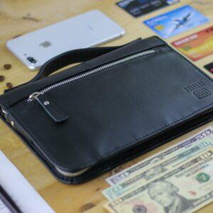 Удобный черный мужской портмоне клатч BRL-920 227509
