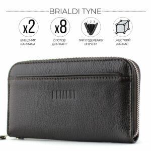 Деловой коричневый мужской портмоне клатч BRL-28618