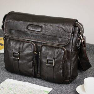 Удобная коричневая мужская сумка через плечо BRL-12996 227201