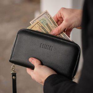 Стильный черный мужской портмоне клатч BRL-43905 229130