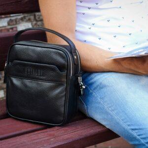 Деловая черная мужская сумка через плечо BRL-34399 229950