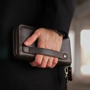 Стильный коричневый мужской портмоне клатч BRL-43904 229112