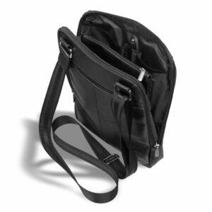 Солидная черная мужская сумка через плечо BRL-12058 227860