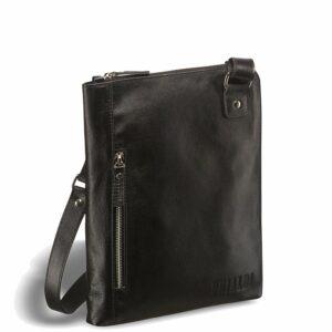 Деловая черная мужская сумка мессенджер BRL-1039