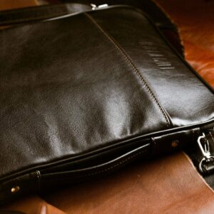 Кожаная черная мужская сумка мессенджер BRL-1022 229380