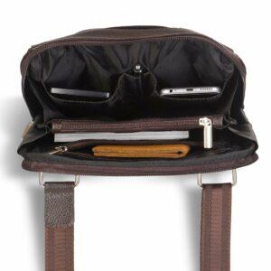 Вместительная коричневая мужская сумка через плечо BRL-12057 227850