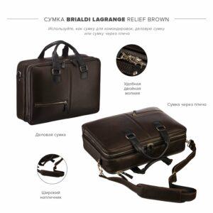 Функциональная коричневая дорожная сумка портфель BRL-23117 228380