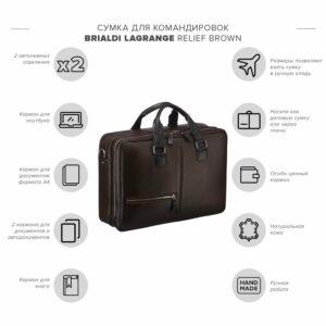 Функциональная коричневая дорожная сумка портфель BRL-23117 228373