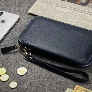 Уникальный синий мужской портмоне клатч BRL-23098 228325