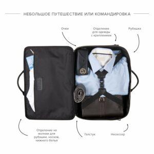 Функциональная коричневая дорожная сумка портфель BRL-23117 228378
