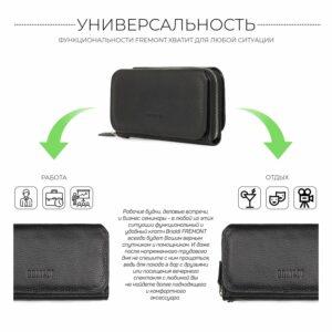 Стильный черный мужской портмоне клатч BRL-44372 229191