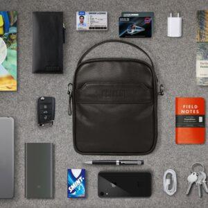 Удобная коричневая мужская сумка через плечо BRL-34400 228949