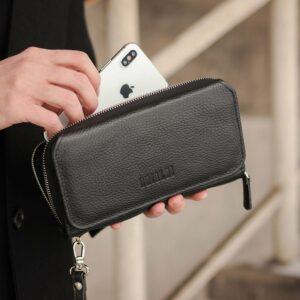 Стильный черный мужской портмоне клатч BRL-44372 229194
