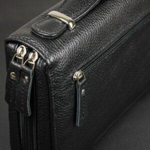 Уникальный черный мужской портмоне клатч BRL-32945