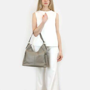 Функциональная серая женская сумка через плечо BRL-47451 229807