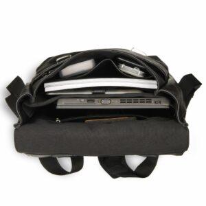 Уникальный черный мужской городской рюкзак BRL-17455
