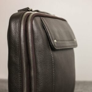 Кожаная коричневая мужская сумка через плечо BRL-19878 228239