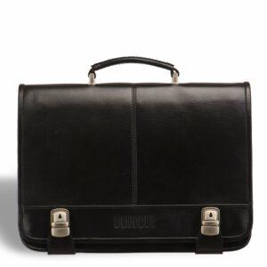 Стильный черный мужской портфель классический BRL-9536 227769