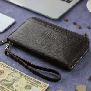 Деловой коричневый мужской портмоне клатч BRL-28618 228646