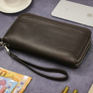 Кожаный коричневый мужской портмоне клатч BRL-32926 228795