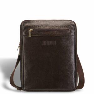 Вместительная коричневая мужская сумка через плечо BRL-12057 227844