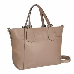 Деловая бежевая женская сумка через плечо BRL-47269