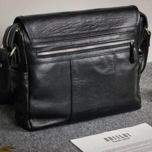 Стильная черная мужская сумка через плечо BRL-12995 227162