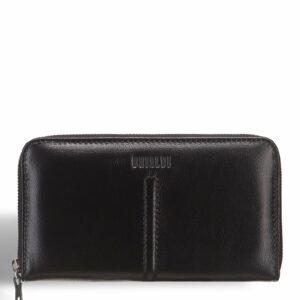 Кожаный черный мужской портмоне клатч BRL-7598