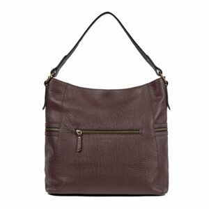 Деловая бордовая женская сумка через плечо BRL-47450 229788