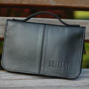 Удобный черный мужской портмоне клатч BRL-920 227517