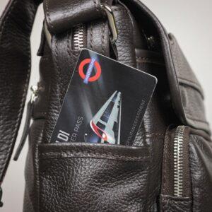 Удобная коричневая мужская сумка через плечо BRL-12996 227207