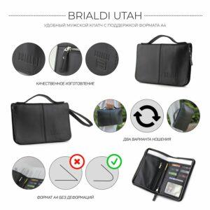 Удобный черный мужской портмоне клатч BRL-920 227506