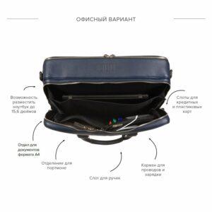 Неповторимая синяя дорожная сумка портфель BRL-23118 228395