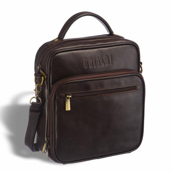 Вместительная коричневая мужская сумка через плечо BRL-12936
