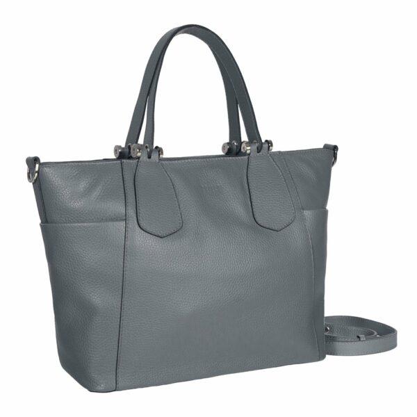 Вместительная серая женская сумка через плечо BRL-47280