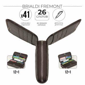Деловой коричневый мужской портмоне клатч BRL-44374