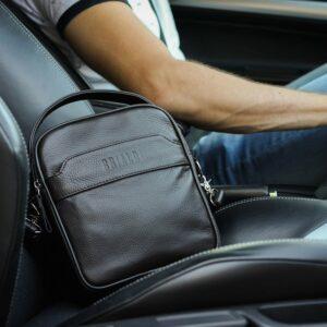 Удобная коричневая мужская сумка через плечо BRL-34400 228933