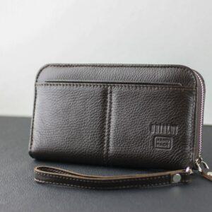 Деловой коричневый мужской портмоне клатч BRL-28615 228639