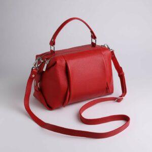 Кожаная красная женская сумка FBR-2474