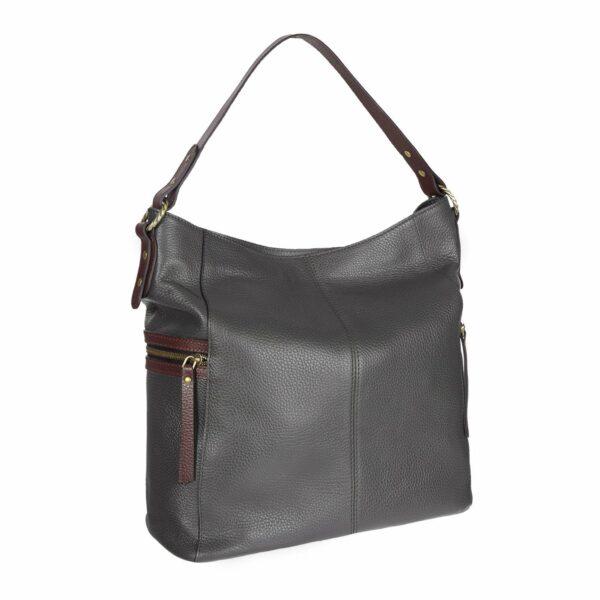 Уникальная серая женская сумка через плечо BRL-47453