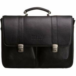 Стильный черный мужской портфель классический BRL-912 227491