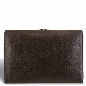 Кожаная коричневая мужская папка BRL-12054
