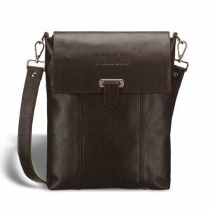 Уникальная коричневая мужская сумка мессенджер BRL-132 227376