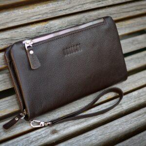 Кожаный коричневый мужской портмоне клатч BRL-32928 228831
