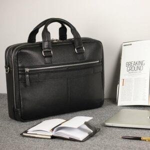 Кожаный черный мужской портфель деловой BRL-44548 227273