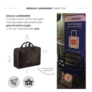 Функциональная коричневая дорожная сумка портфель BRL-23117 228376