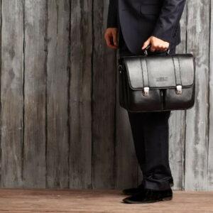 Стильный черный мужской портфель классический BRL-912 227501